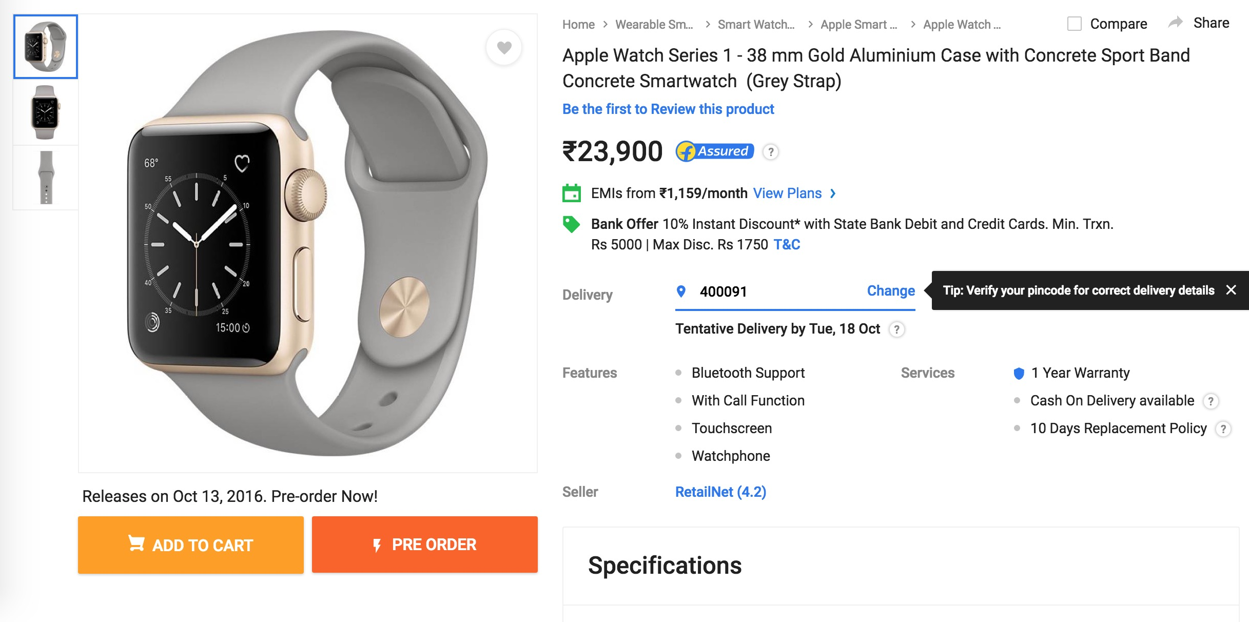 Apple Watch Series 2 Available On Flipkart Starting At Rs