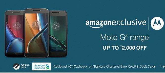 Amazon Moto G4 Offers