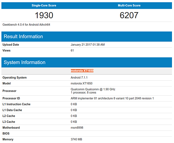 Moto XT1650