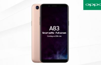 Oppo A83 Full Screen Budget Phone to be Unveiled in India on January 20