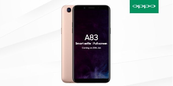OPPO A83 Arriving in India on January 20 with Rs. 13990 Pricing