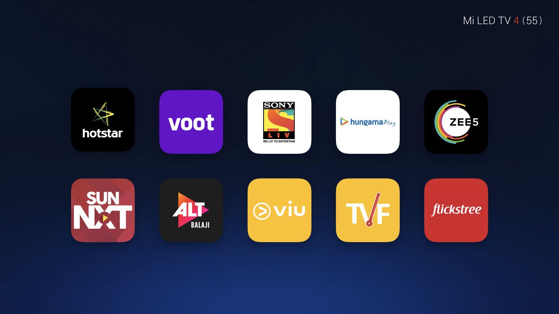 Mi TV 4 Content