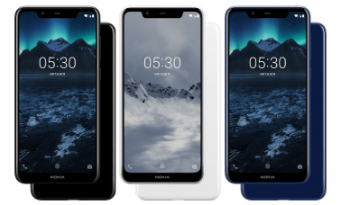 Nokia X5 Color Variants Black, White and Blue