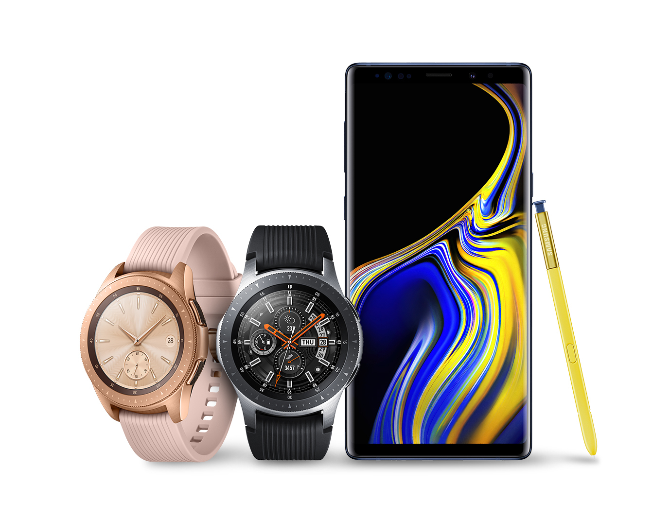 Samsung Galaxy Note 9 with Galaxy Watch