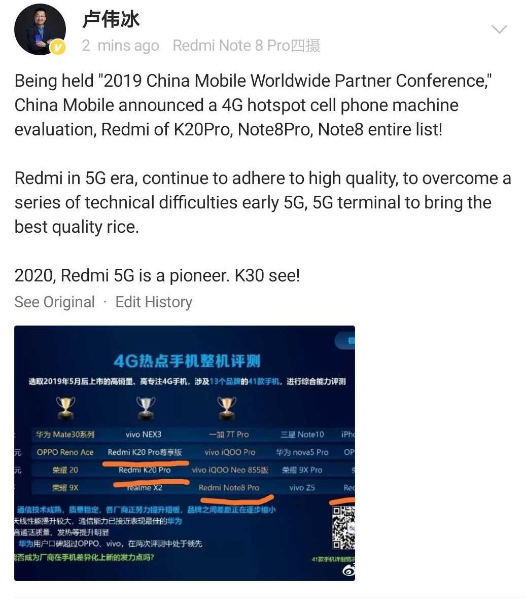 redmi k30 2020 launch